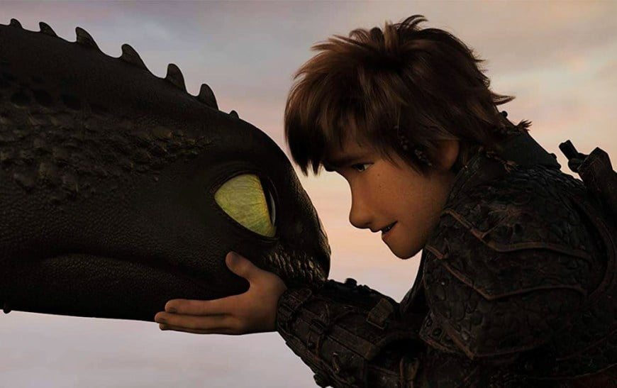 "Frame from the cartoon ""How to Train Your Dragon 3"""